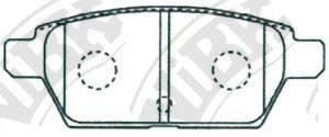 Комплект тормозных колодок, дисковый тормоз NIBK PN5803