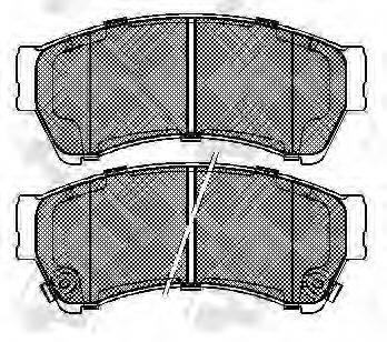 Комплект тормозных колодок, дисковый тормоз NIBK PN5806