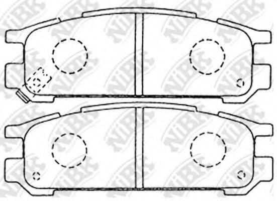 Комплект тормозных колодок, дисковый тормоз NIBK PN7249