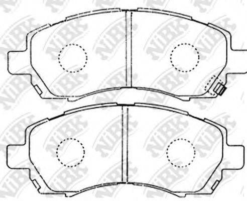 Комплект тормозных колодок, дисковый тормоз NIBK PN7398