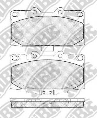 Комплект высокоэффективных тормозных колодок NIBK PN7463S