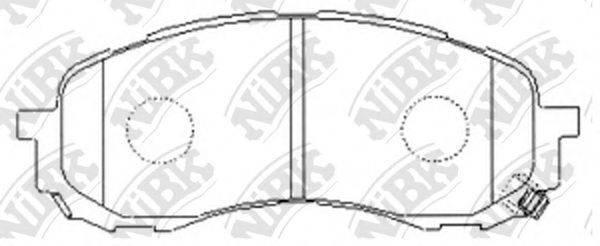 Комплект тормозных колодок, дисковый тормоз NIBK PN7493