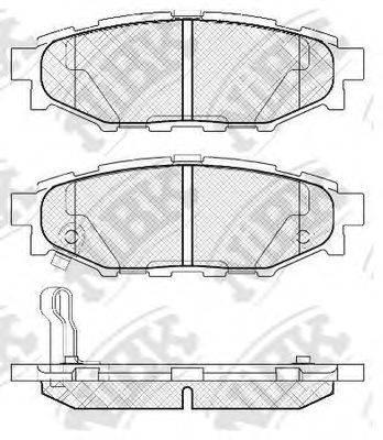 Комплект тормозных колодок, дисковый тормоз NIBK PN7501