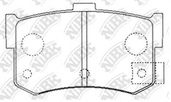 Комплект тормозных колодок, дисковый тормоз NIBK PN8210
