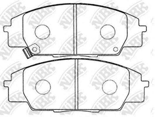 Комплект тормозных колодок, дисковый тормоз NIBK PN8423