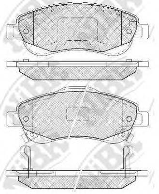 Комплект тормозных колодок, дисковый тормоз NIBK PN8808