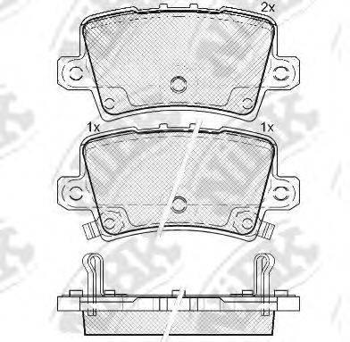 Комплект тормозных колодок, дисковый тормоз NIBK PN8867