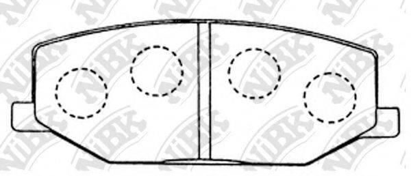 Комплект тормозных колодок, дисковый тормоз NIBK PN9118