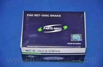 Комплект тормозных колодок, дисковый тормоз PARTS-MALL PKC-005