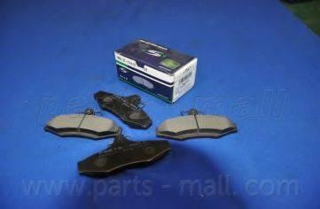 Комплект тормозных колодок, дисковый тормоз PARTS-MALL PKC-010