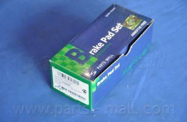 Комплект тормозных колодок, дисковый тормоз PARTS-MALL PKC-024