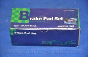 Комплект тормозных колодок, дисковый тормоз PARTS-MALL PKE-004
