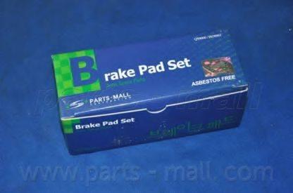 Комплект тормозных колодок, дисковый тормоз PARTS-MALL PKF-010