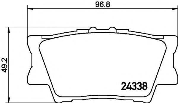 Комплект тормозных колодок, дисковый тормоз MINTEX MDB2787