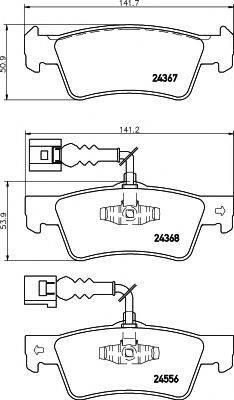 Комплект тормозных колодок, дисковый тормоз MINTEX MDB2822