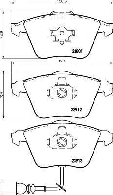 Комплект тормозных колодок, дисковый тормоз MINTEX MDB2677