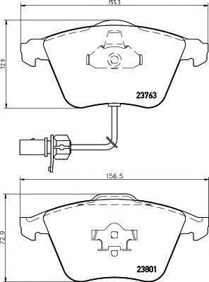Комплект тормозных колодок, дисковый тормоз MINTEX MDB2648