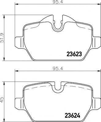 Комплект тормозных колодок, дисковый тормоз MINTEX MDB2681