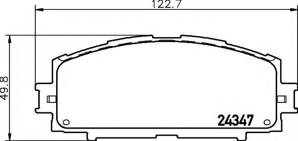 Комплект тормозных колодок, дисковый тормоз MINTEX MDB2776