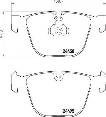 Комплект тормозных колодок, дисковый тормоз MINTEX MDB2879