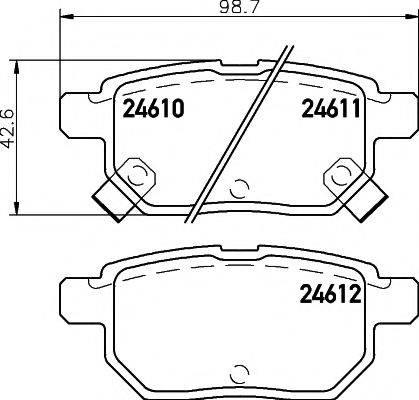 Комплект тормозных колодок, дисковый тормоз MINTEX MDB2925