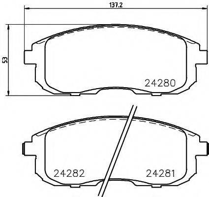 Комплект тормозных колодок, дисковый тормоз MINTEX MDB2847