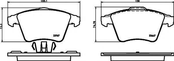 Комплект тормозных колодок, дисковый тормоз MINTEX MDB2943