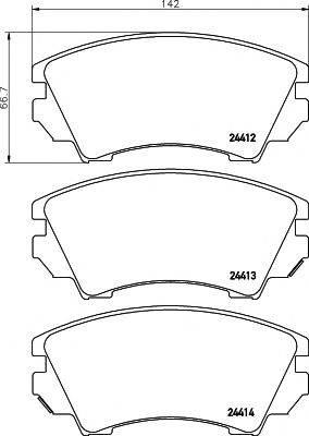 Комплект тормозных колодок, дисковый тормоз MINTEX MDB2869