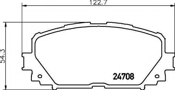 Комплект тормозных колодок, дисковый тормоз MINTEX MDB2956