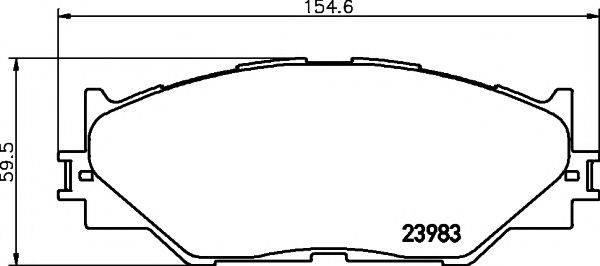 Комплект тормозных колодок, дисковый тормоз MINTEX MDB2747