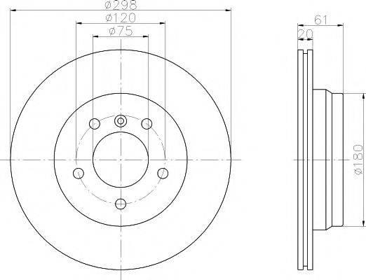 Тормозной диск MINTEX MDC1054