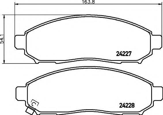 Комплект тормозных колодок, дисковый тормоз MINTEX MDB2715