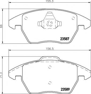 Комплект тормозных колодок, дисковый тормоз MINTEX MDB3022