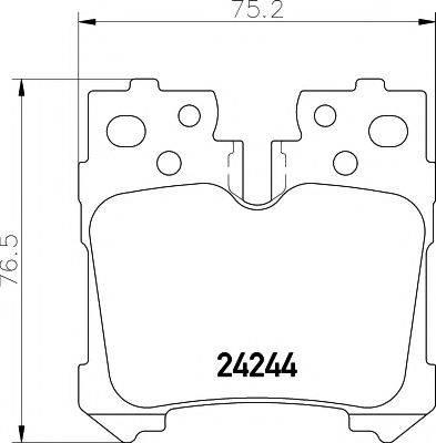 Комплект тормозных колодок, дисковый тормоз MINTEX MDB2760