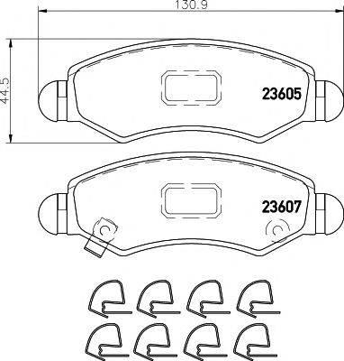 Комплект тормозных колодок, дисковый тормоз MINTEX MDB2709
