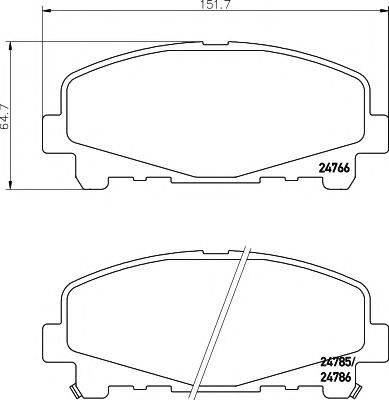 Комплект тормозных колодок, дисковый тормоз MINTEX MDB2954