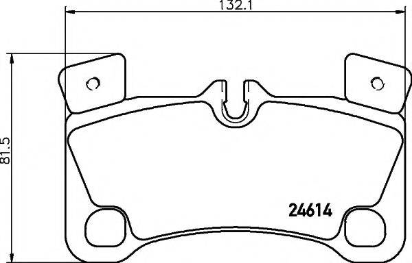 Комплект тормозных колодок, дисковый тормоз MINTEX MDB3035
