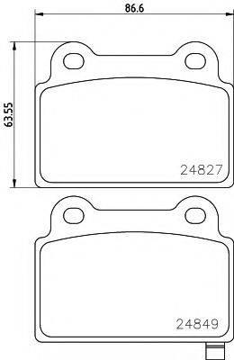 Комплект тормозных колодок, дисковый тормоз MINTEX MDB3039