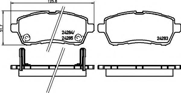 Комплект тормозных колодок, дисковый тормоз MINTEX MDB2968