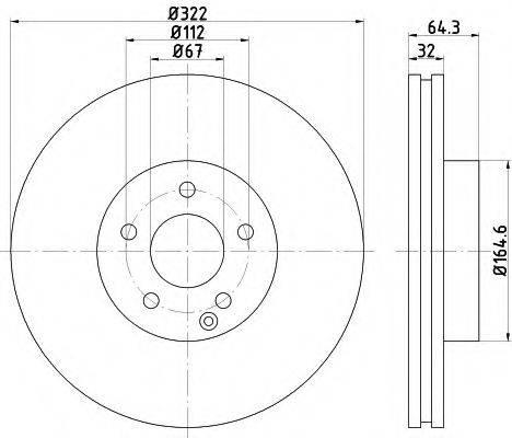 Тормозной диск MINTEX MDC2052