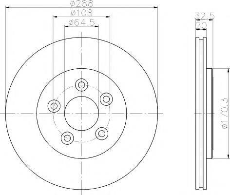 Тормозной диск MINTEX MDC1372