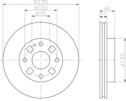 Тормозной диск MINTEX MDC1418