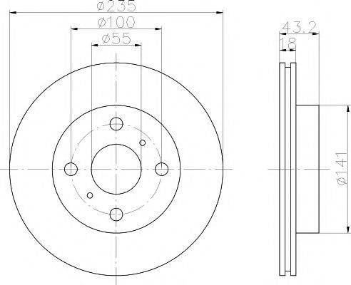 Тормозной диск MINTEX MDC1392