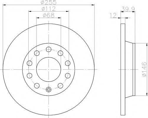 Тормозной диск MINTEX MDC1541
