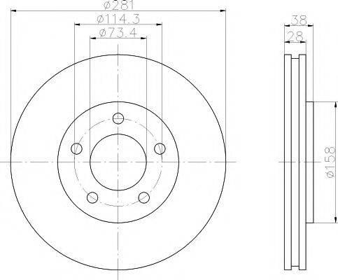 Тормозной диск MINTEX MDC1555