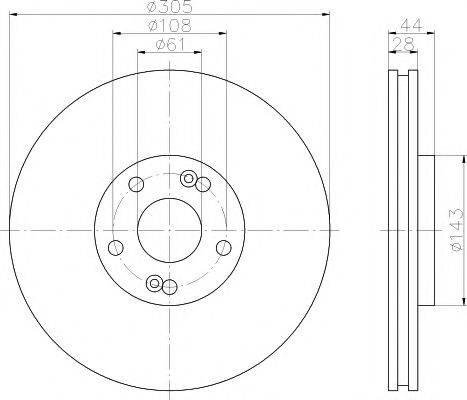 Тормозной диск MINTEX MDC1532