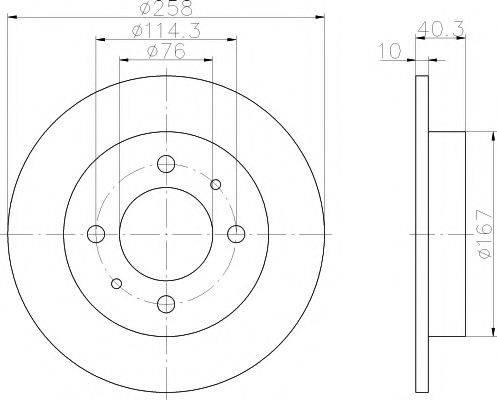 Тормозной диск MINTEX MDC1366