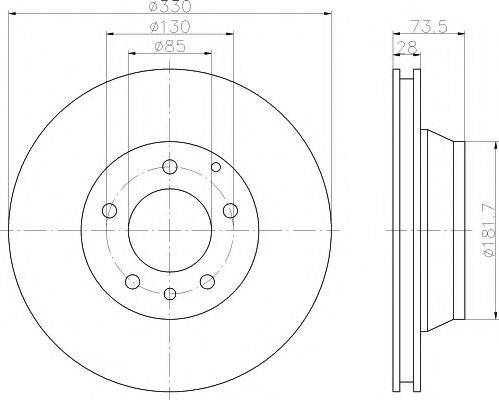 Тормозной диск MINTEX MDC1612