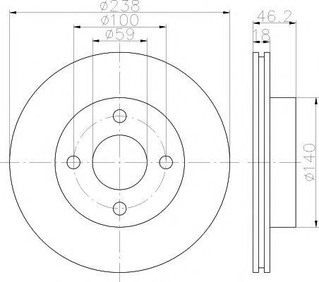 Тормозной диск MINTEX MDC1508
