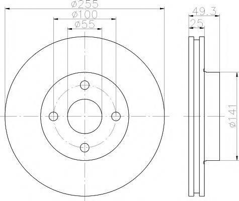 Тормозной диск MINTEX MDC1587